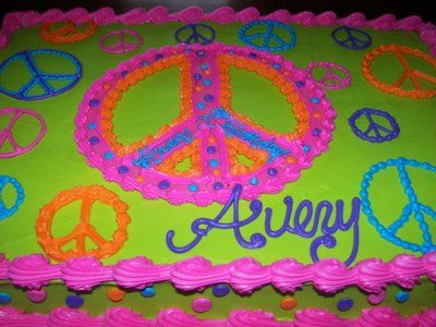 Peace Sign Cakes for Girls | Shelli Belli Cakes: Avery's Peace sign cake