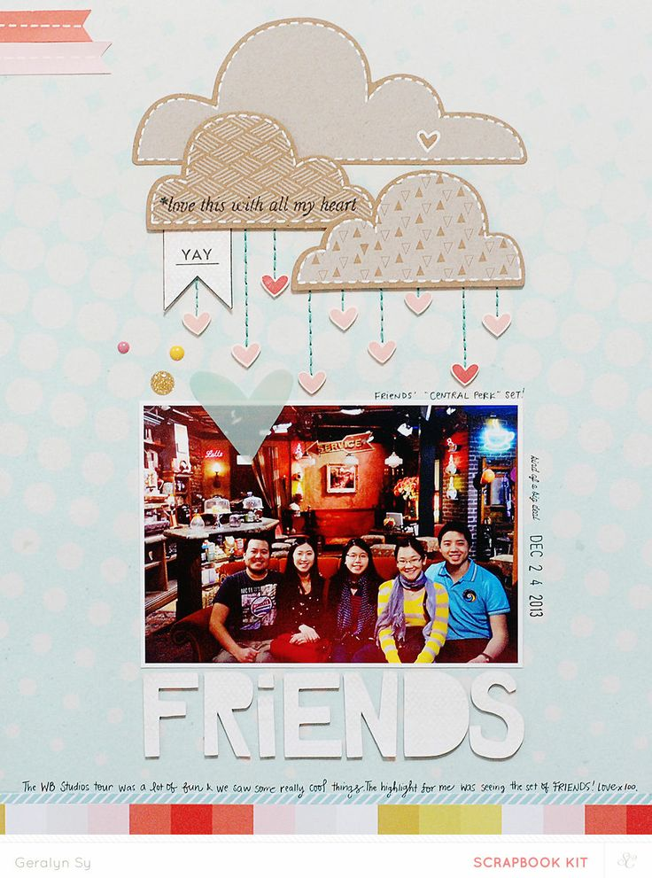 #papercraft #scrapbook #layout   Friends *Main Kit Only* by qingmei at @Studio_Calico