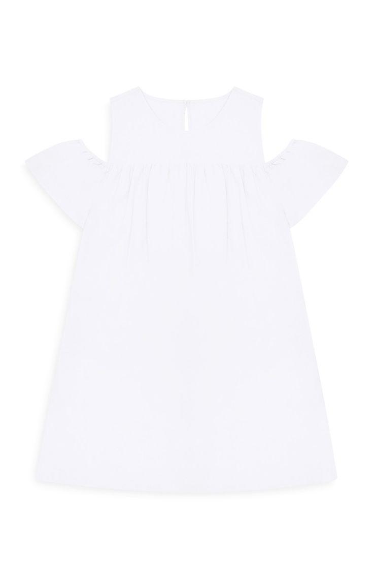 Primark - White Cold Shoulder Bardot Dress