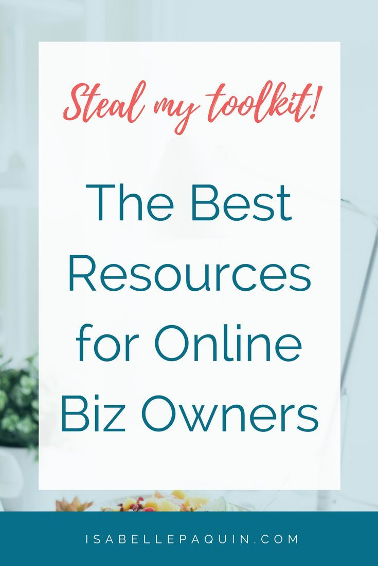 Swipe my toolkit! The best resources & tools for bloggers, solopreneurs and online entrepreneurs.
