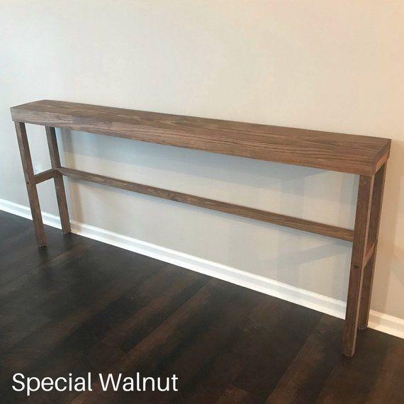 Long Narrow Console Table Long Narrow Sofa Table Skinny Etsy Narrow Console Table Narrow Sofa Table Living Dining Room