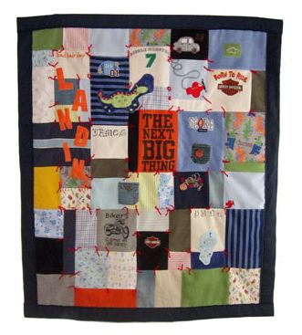 so cute, baby boy clothes quilt