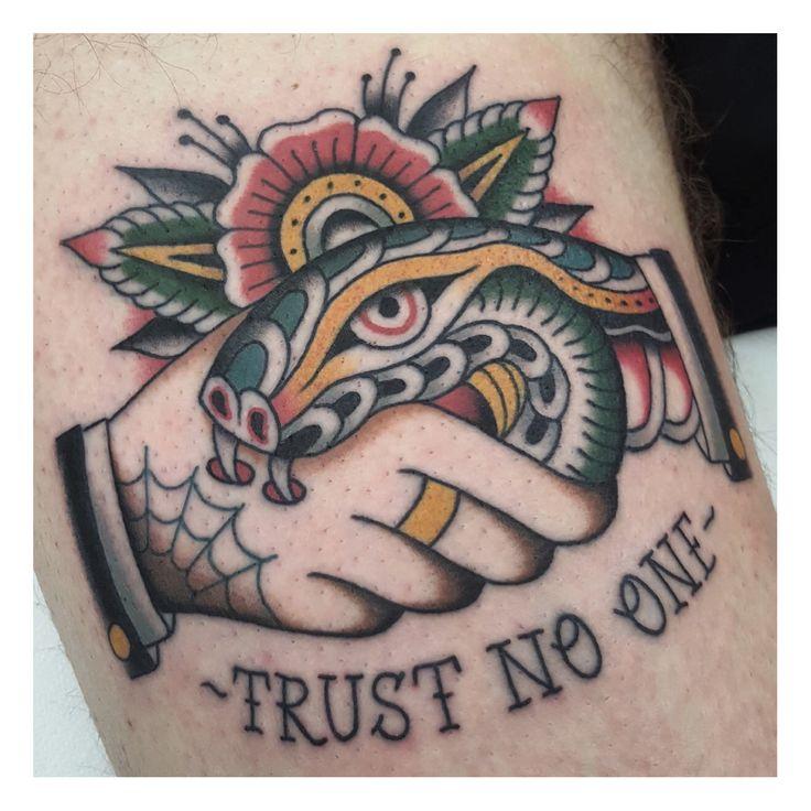 27+ Stunning Trust no one tattoo snake image HD