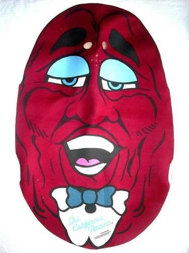 california raisins vtg halloween costume foam topper adult size medium m 1980s ebay - California Raisin Halloween Costume