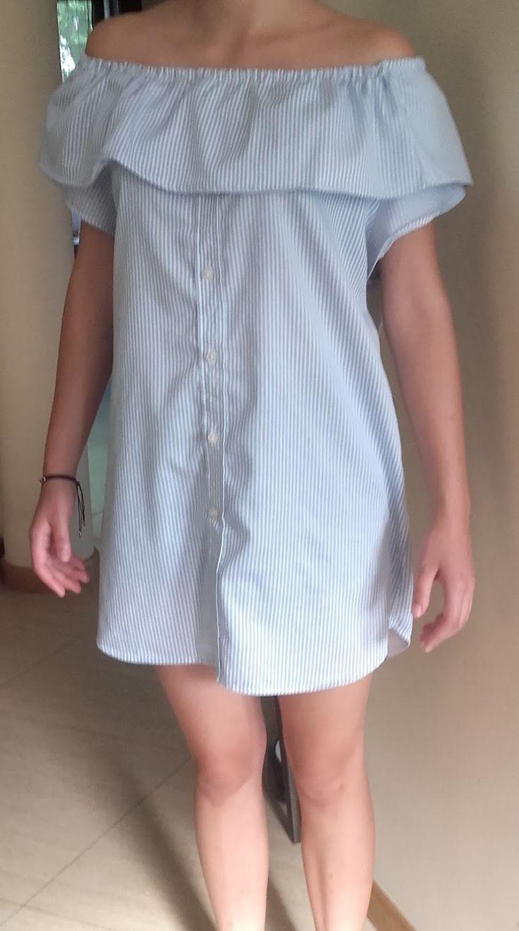 tunika na lato z męskiej koszuli