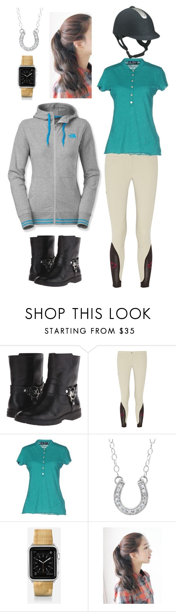 """""""Horse Riding"""" by gracenickel on Polyvore featuring MICHAEL Michael Kors, Cavalleria Toscana, NORTH SAILS, Kevin Jewelers, Casetify, pinkage and The North Face"""