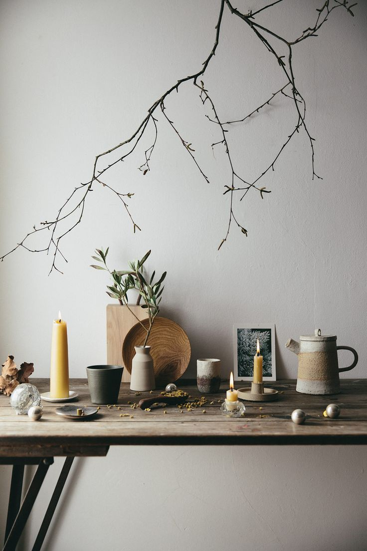 A seasonal gathering of handmade pieces and natural elements.