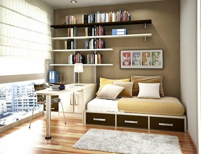Fesselnd Einrichtungsideen Kleine Räume Mit Bücherregal