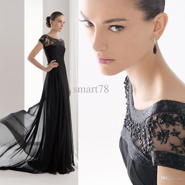 2015 High Neck Beaded Chiffon Mother Of The Bride Dresses Long Black Evening Gowns Cap Sleeve Pleat Godmother Dress M278 Elegant Mother Of The Bride Dresses Gold Mother Of The Bride Dresses From Smart78, $231.26| Dhgate.Com