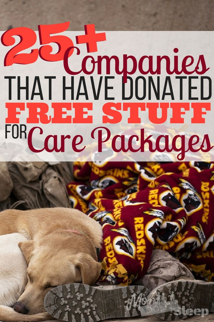 Care packages get expensive!! Here's how you can get free products for military care packages and a list of companies that are awesome enough to donate!!