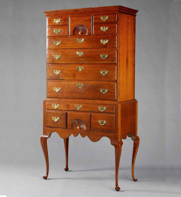 Queen Anne Cherry Highboy, Wethersfield, CT, Mid-18th Century · Queen AnneAntique  FurnitureEarly ... - 471 Best Antique Furnishings Images On Pinterest Furniture