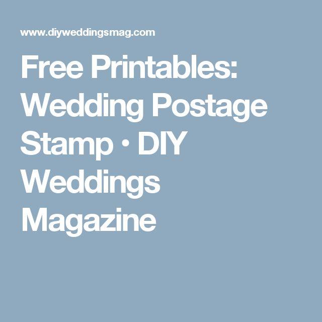 Free Printables: Wedding Postage Stamp • DIY Weddings Magazine