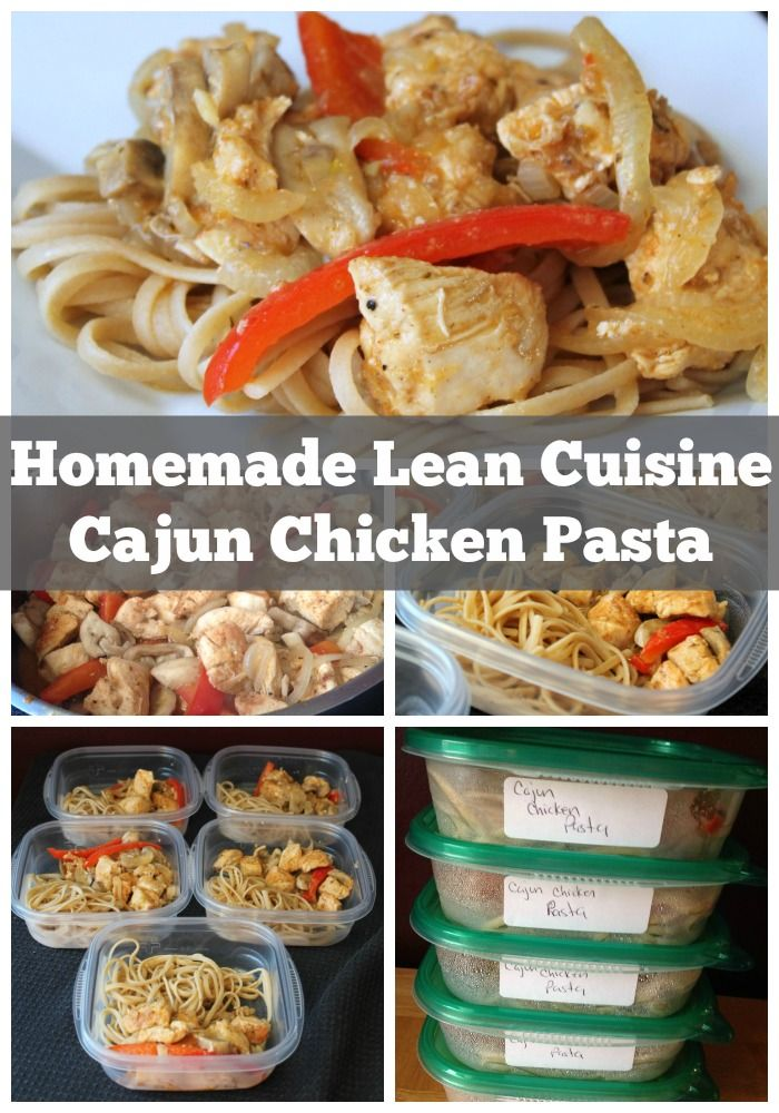 Cajun Chicken Pasta Homemade Lean Cuisine| 25+ freezer meal ideas