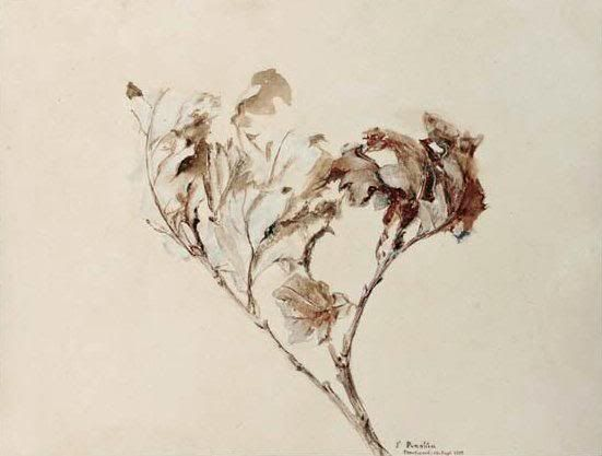 John Ruskin Watercolor and Ink