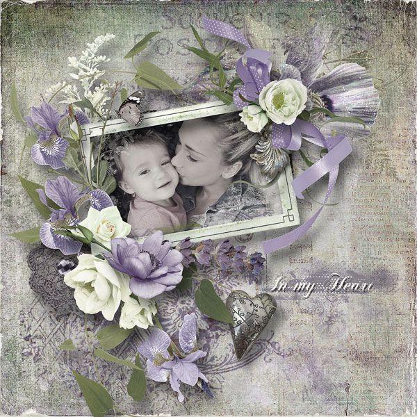 "NEW*NEW*NEW  ""In My Heart"" - collection & FWP by DitaBDesigns   https://www.pickleberrypop.com/shop/manufacturers.php?manufacturerid=164  vnučka Ellinka se starší sestrou Petrou"