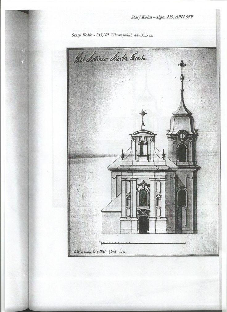 Nerealizovaný návrh barokní přestavby kostela od Tomáše Haffeneckera - Hlavní průčelí