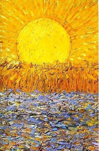 Van Gogh.                                                           De lente gaat beginnen ,de zon die gaat het winnen!