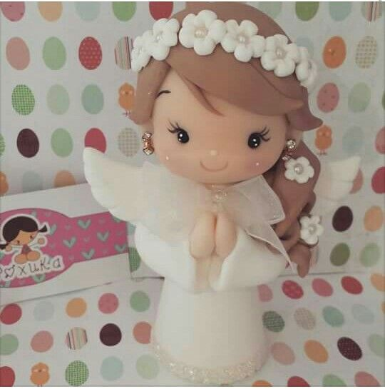 pretty angel polymer clay