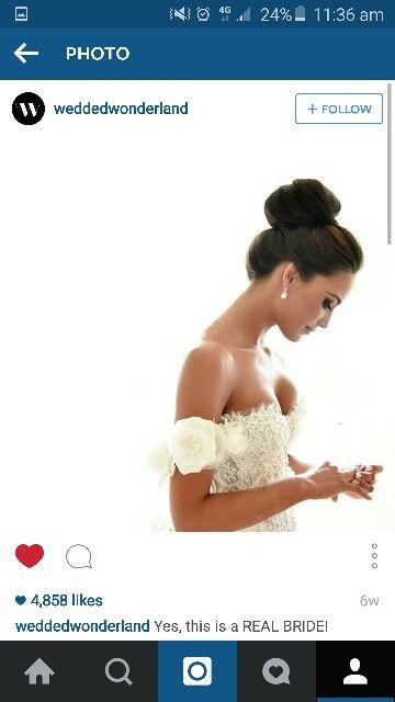 Bridal high bun hairstyle                                                                                                                                                      More