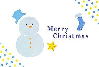 雪だるまと靴下 クリスマス 2016  無料 イラスト 手描きっぽさが残る、シンプルなクリスマスカードです。ゆるく可愛い雰囲気のイラストに癒されます。空いているスペースもあるので、お好きなメッセージを書き込んでみてくださいね!