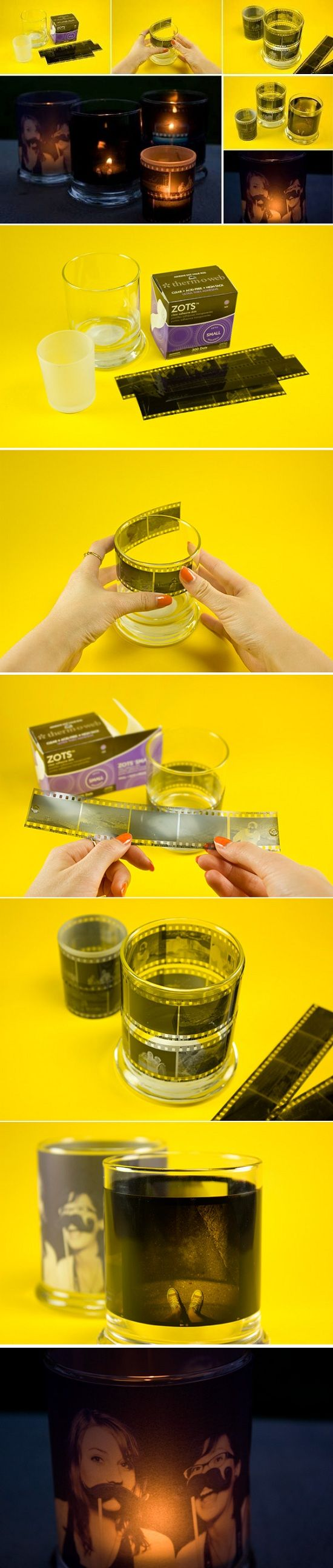DIY Film Candle Holder..Easy to make...take a look.: