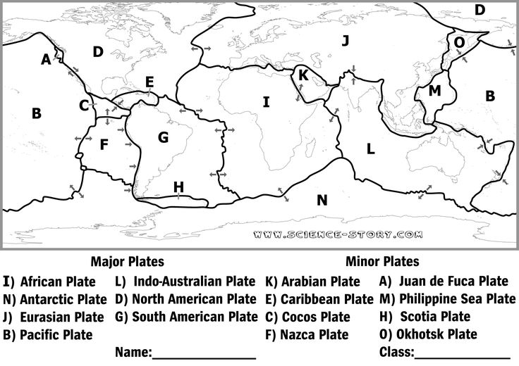 Plate tectonics, Plates and Black and white on Pinterest