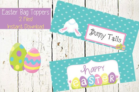 Easter Bag Toppers Bunny Tails Easter by MyBellasBowtique on Etsy
