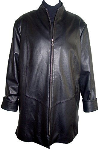"""Product review for Paccilo 5001 Female Leather Jacket & Coats Fashion Soft Lamb.  - Mandarin Collar, Concealed Zip Front Closure, Welt Pocket Silky feel Pocket Lining Lined, Petite Regular Plus Size . Not all leather is the same. When vendors say or state, """"leather or genuine leather"""", they generally use """"pig skin"""", which is the worst quality of leather and..."""