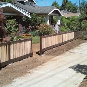 front yard fence idea