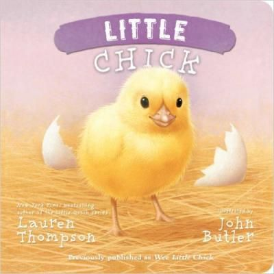 Little Chick! Live large on the farm with Little Chick in this board book edition of a sweet story from New York Times bestselling author Lauren Thompson. Little chick may be the smallest chick on the farm, but she doesn't know it. What she does know is that she can chirp the loudest, eat the most, and stand the tallest. And she's proud of it too!