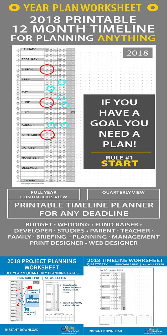This is just the thing I need to put up on my wall so I can easily track things. Starting a new online business takes a lot of work and being able to plan ahead for the whole year will help with not wasting time, wondering what to do next. Just what I need! #planner #timeline #deadline #ad#finances#organization#download#pdf#money#etsy#worksheet#debt#billtracker #financeplanner #digital  #calendar #business #timemanagement