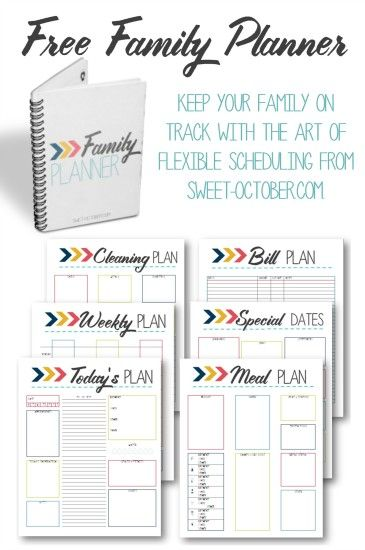 Keep your family on track with the art of Flexible Scheduling and a FREE 7 page printable Family Planner.