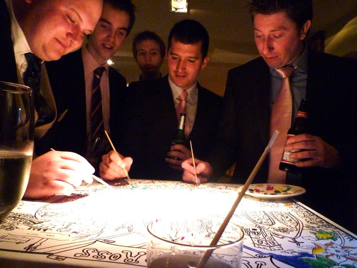 Rose can draw live at your wedding...and get the guest involved too!