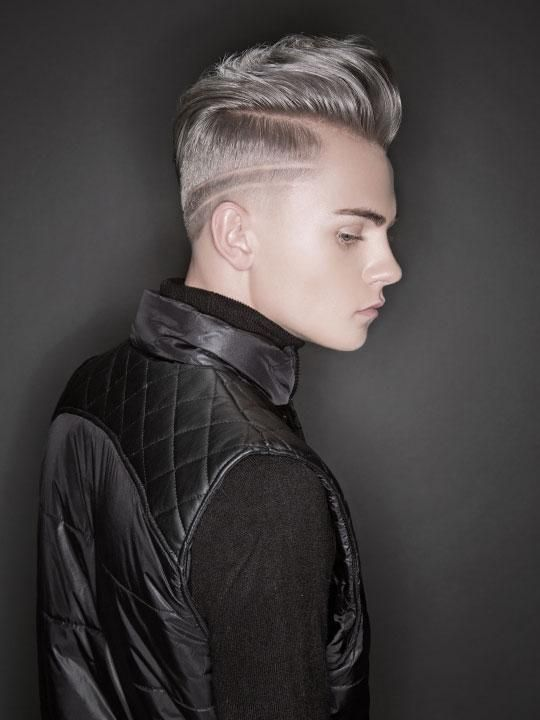 Dustin Villa of Aveda Institute Tucson was named the 2015 NAHA Student Hairstylist of the Year. || Makeup: Anne Skubis || Fashion styling: Vanessa Di Palma Wright