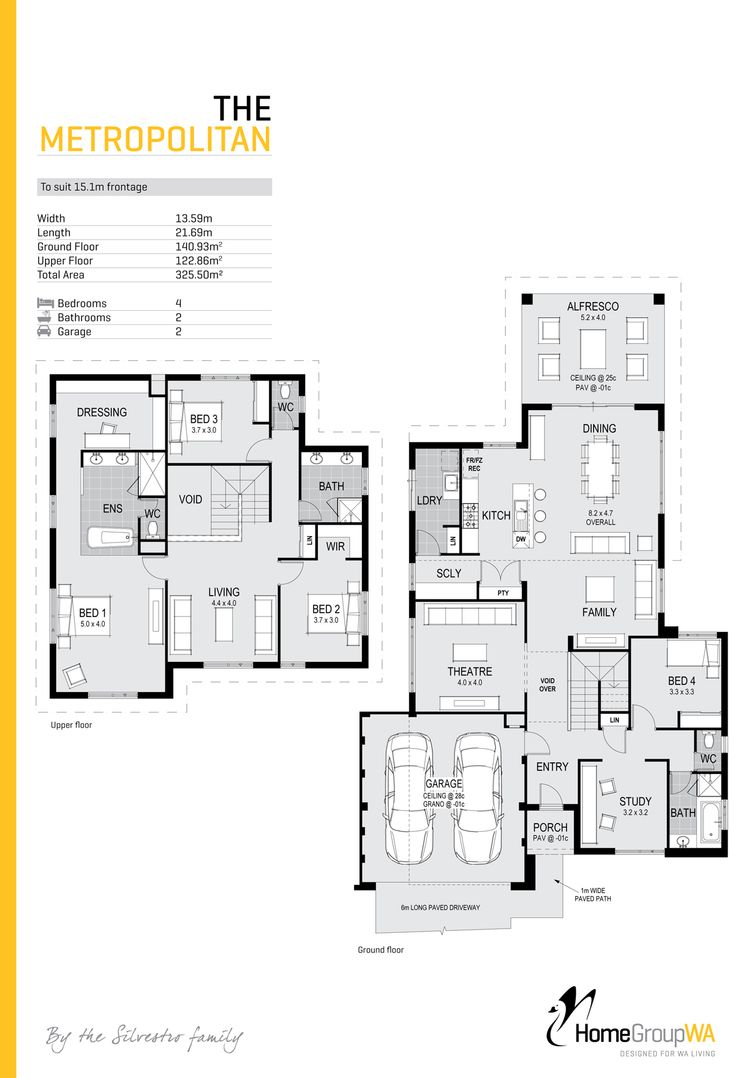344 best house plans images on pinterest architecture floor the metropolitanplatinum to suit 15 1m frontage this two storey home showcases its