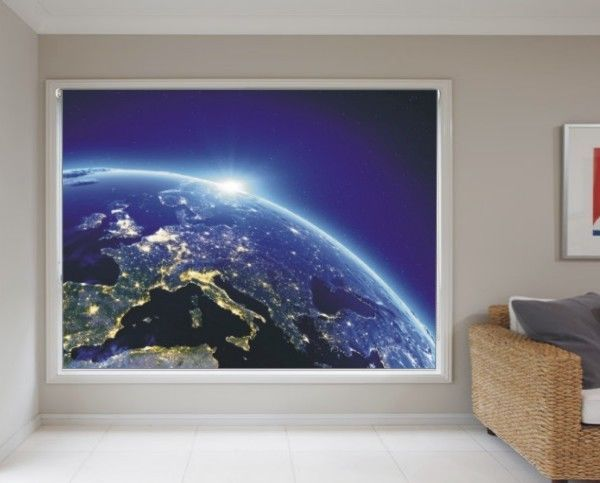BLACKOUT PHOTO ROLLER BLINDS, PICTURE BLINDS, CITY LIGHT IN EUROPE