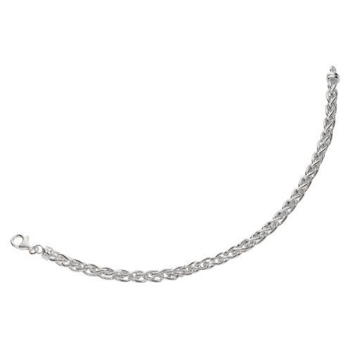 """925 Sterling Silver Hollow Wheat Bracelet 7.25"""" JewelStop - Sterling Silver Bracelets. $69.60. High Polished Finish. Images are enhanced for better view and are NOT actual size. Refer to the Product Details for approximate item info.. Wheat Chain. 7.25"""" Inches (18 cm)"""