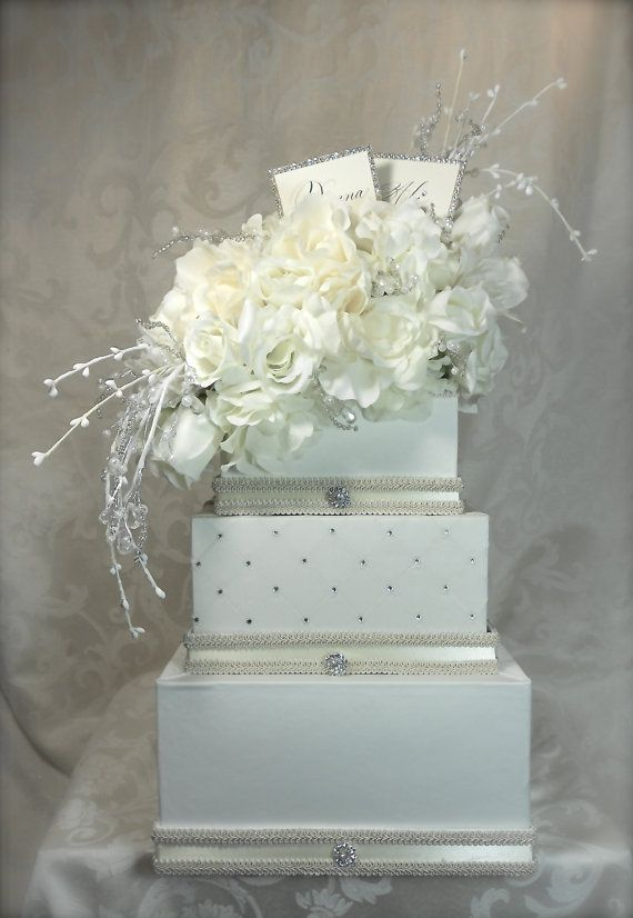 Elegant, SophisticatedWedding Card Holder, Cream Wedding Card Box, Reception Card Holder, Custom Made, Unique, Secure, Elegant
