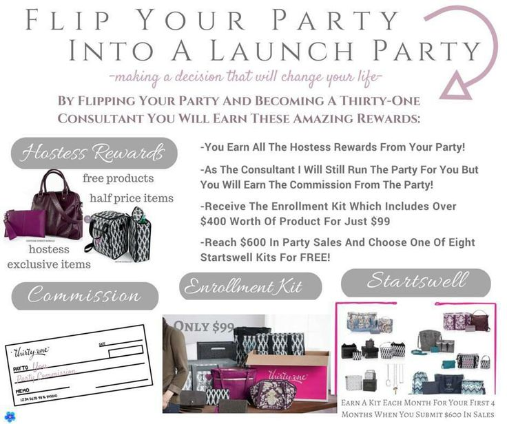 Flip your party to your Thirty-One launch party this fall! www.EscapeClutter.com