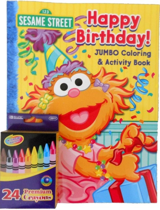 sesame street coloring books and crayons best images about sesame street party on - Sesame Street Coloring Books