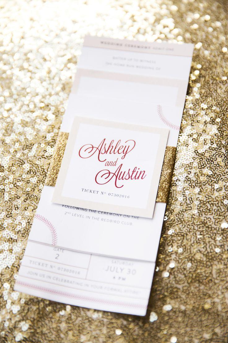 Ashley & Austin Baseball Themed Wedding on Behance