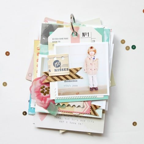 Mini-album by Stephanie Bryan for Crate Paper