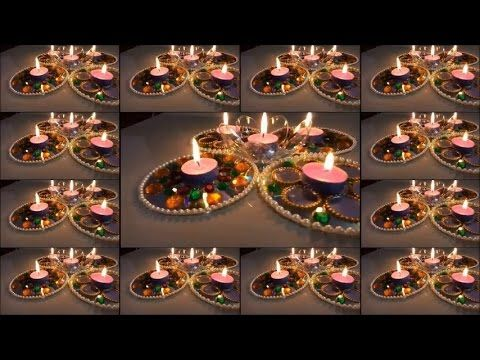 25 best ideas about diwali decorations on pinterest for Diya decoration youtube