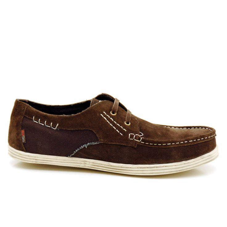 Zapatos de caballero, de estilo nautico sport combinado en piel serraje y textil y suela de casco en goma 39,99 €  http://www.tinogonzalez.com/comprar-zapatos-online-hombre-hombre/3610-zapato-hombre-gonzalo.html#/color-marrnin/talla-40/gama-marron