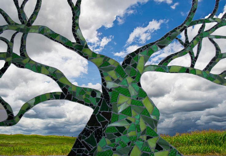 Green Tree Patchwork Mosaic