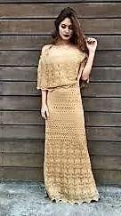 vestidos casuais longo tricot crochê ciganinha ombro a ombro