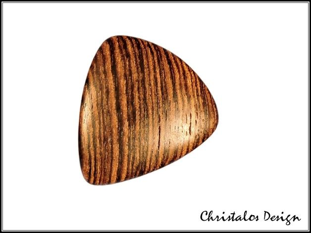 Bocote Wood Gitarrenplektrum Plektrum (Original Foto)  Gitarren Plektrum aus Bocote Holz  Maße 30x27 mm, Stärke ca.3mm
