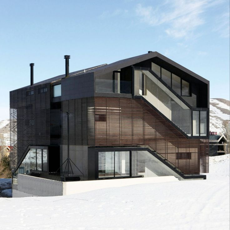 Architizer   7 Ski Lodges That Eschew The Typical A Frame Model