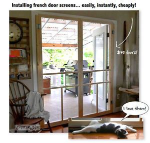 How to build a cheap screen door for french doors / by Funky Junk Interiors for Ebay