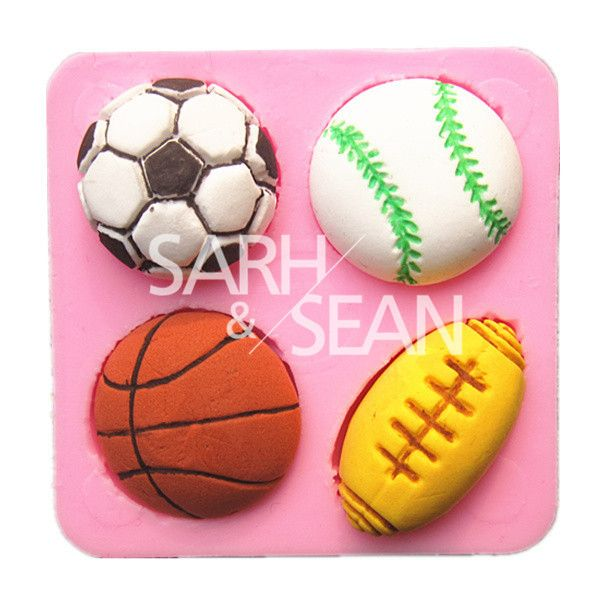Sports Cookie, Cake Bakeware. Sport Fans, Soccer, Football, Baseball, Basketball, softball. Its Party Time